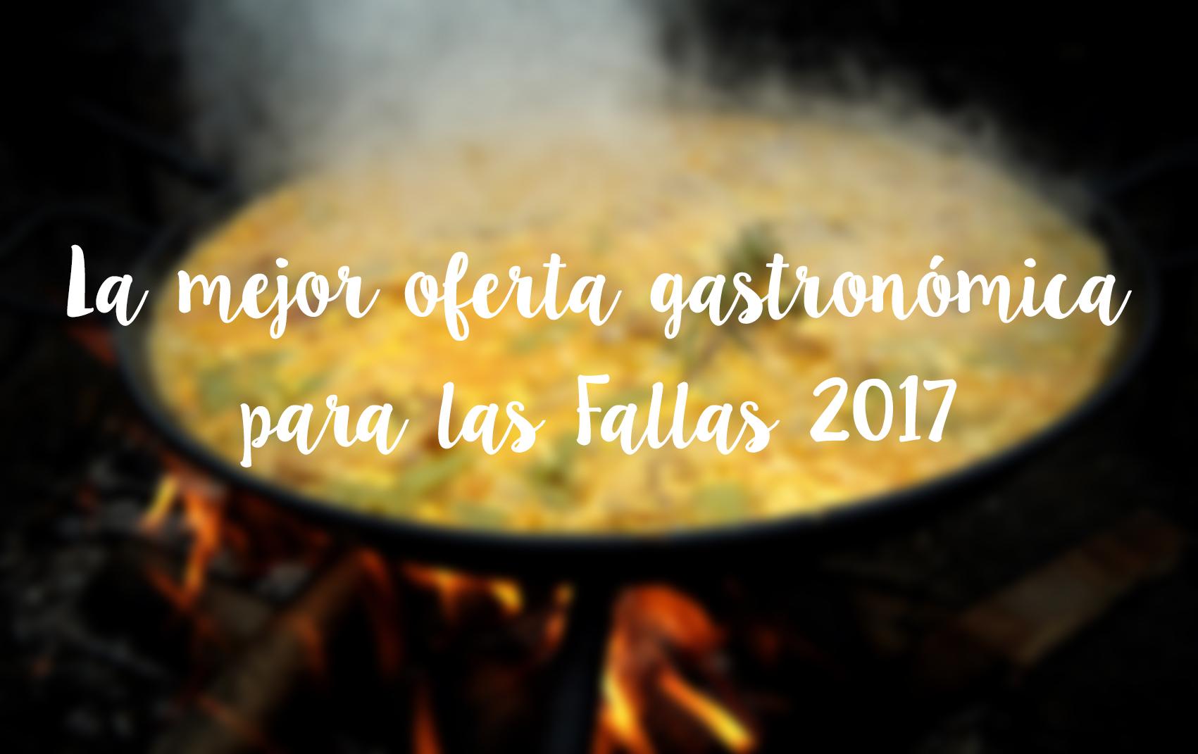 Oferta gastronómica para las Fallas 2017 Paella